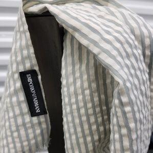 Emporio Armani silk scarf.